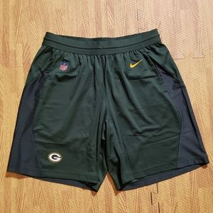 Green Bay Packers Nike Dri-Fit 5.0 Fly Shorts Lrg